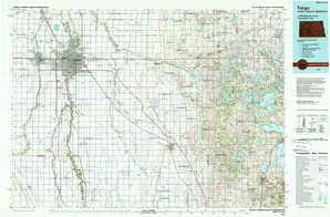 Fargo topographical map