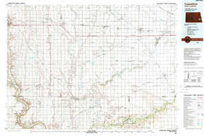 Casselton topographical map