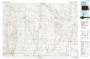 Lamoure topographical map