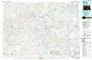Wishek topographical map