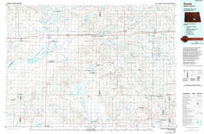 Steele topographical map