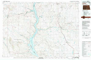 Linton topographical map