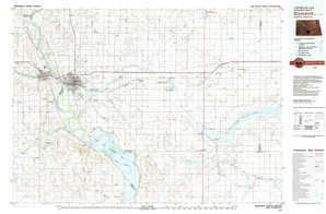 Bismarck topographical map