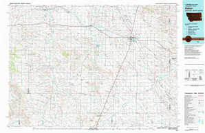 Baker topographical map