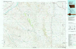 Wibaux topographical map