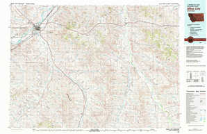 Miles City topographical map