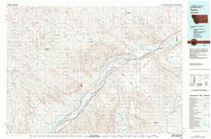Terry topographical map