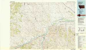 Hysham topographical map