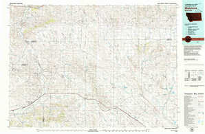 Melstone topographical map
