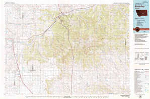 Roundup topographical map