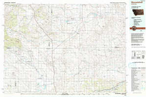 Musselshell topographical map