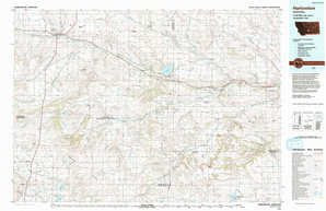 Harlowton topographical map