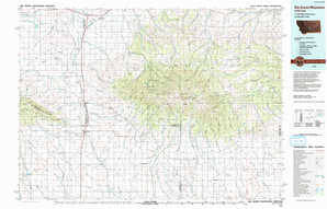 Big Snowy Mountains topographical map