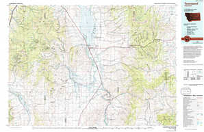 Townsend topographical map
