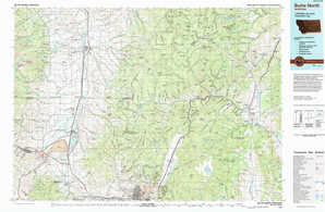 Butte North topographical map