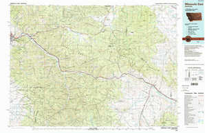 Missoula East topographical map