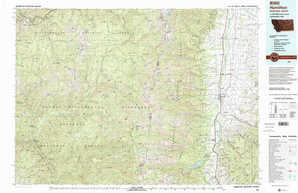 Hamilton topographical map