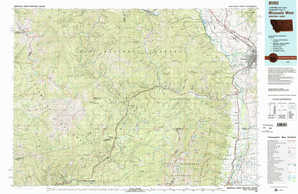 Missoula West topographical map