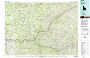 Kooskia topographical map
