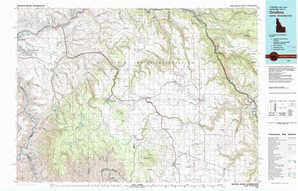 Orofino topographical map