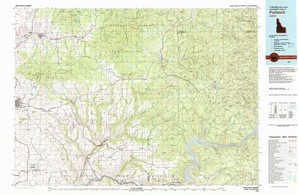 Potlatch topographical map