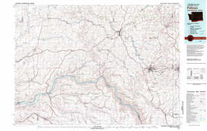 Pullman topographical map