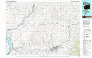 Walla Walla 1:250,000 scale USGS topographic map 46118a1
