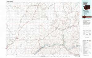 Connell 1:250,000 scale USGS topographic map 46118e1