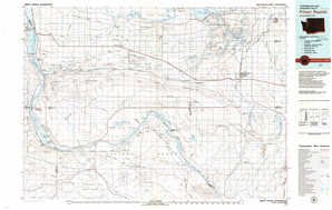 Priest Rapids 1:250,000 scale USGS topographic map 46119e1