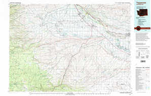 Toppenish topographical map
