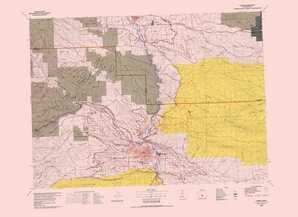 Yakima topographical map