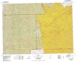 Mount Adams topographical map