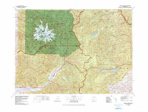 Mount Rainier topographical map