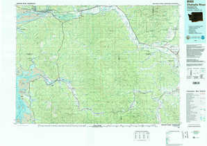 Chehalis River topographical map