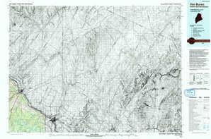 Van Buren topographical map