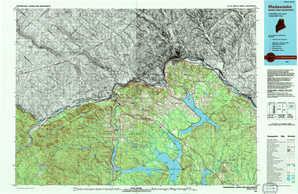 Madawaska topographical map