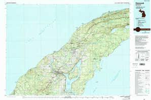 Hancock topographical map