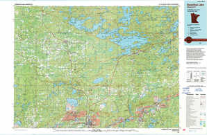 Vermilion Lake topographical map