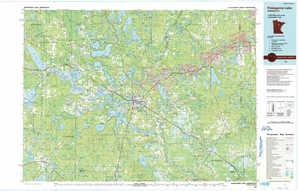 Pokegama Lake topographical map