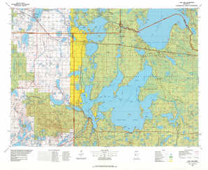 Cass Lake topographical map