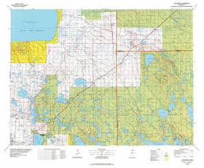Blackduck topographical map