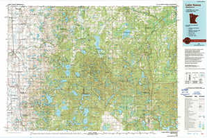 Lake Itasca topographical map