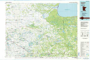 Fosston topographical map
