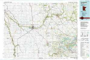 Crookston topographical map