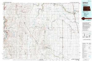 Hillsboro topographical map