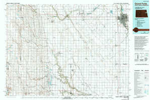 Grand Forks 1:250,000 scale USGS topographic map 47097e1