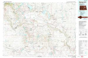 Stump Lake topographical map
