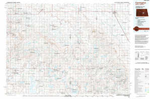 Carrington topographical map
