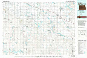 Drake topographical map