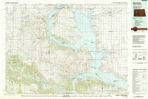 Parshall topographical map